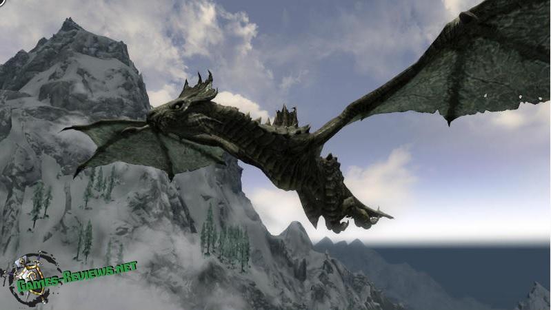 Мод на Скайрим на дракона