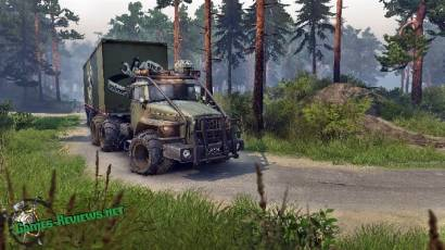 SpinTires: мод на Урал Варвар