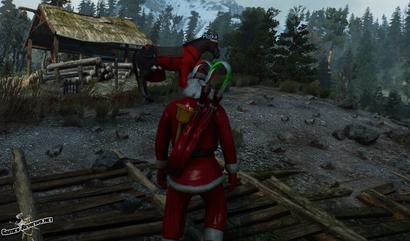 Одежда Санта Клауса / Новогодний мод для Ведьмак 3