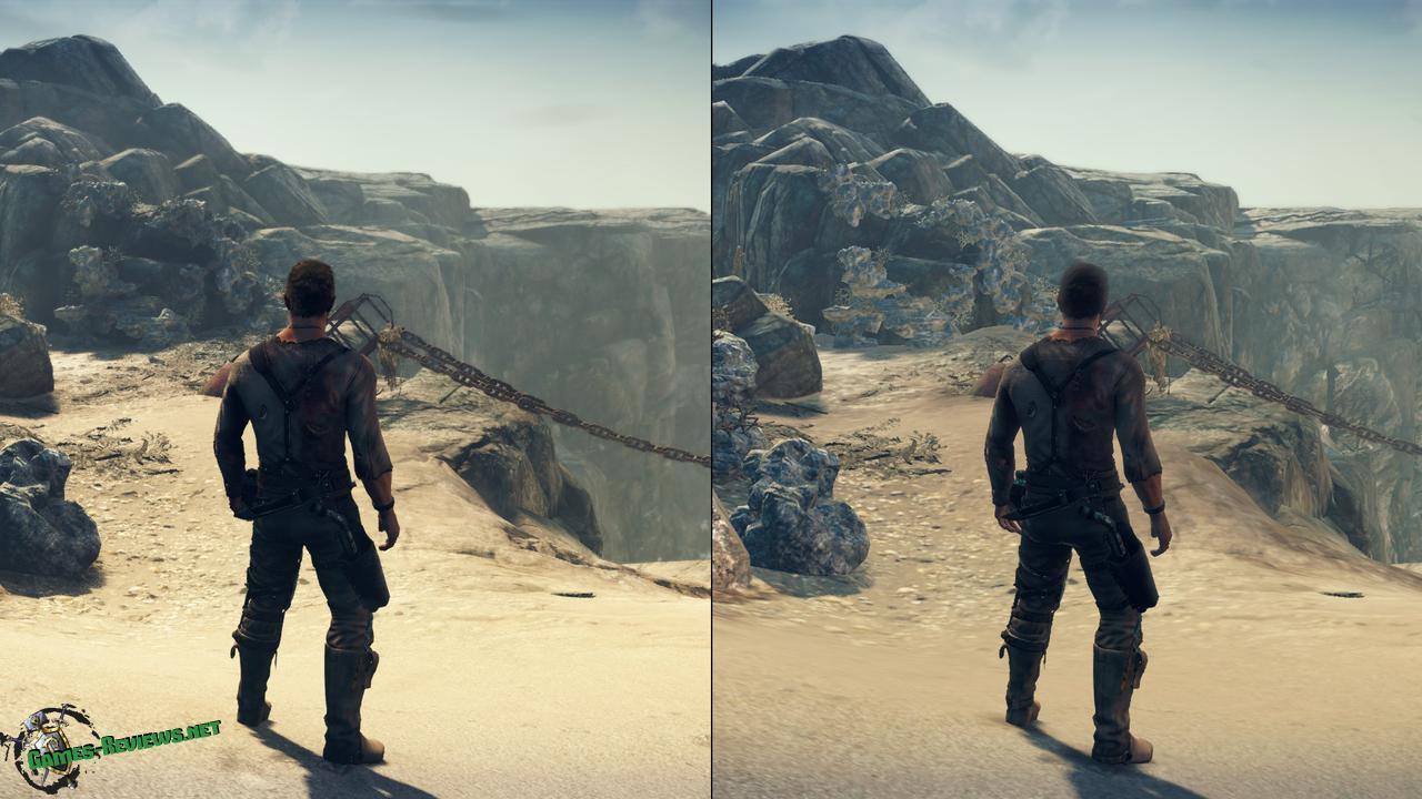 Mad Max: графические различия при разных настройках
